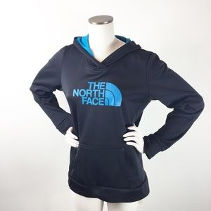 The North Face Black and Teal Hoodie size large